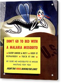 Malaria Mosquito Acrylic Print by War Is Hell Store