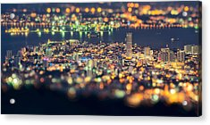 Malaysia Penang Hill At Night Acrylic Print