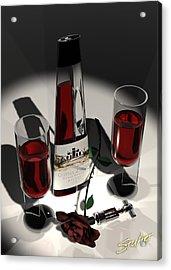 Malbec Wine - Romance Expectations Acrylic Print