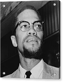 Malcolm X 1925-1965 In 1964, The Year Acrylic Print by Everett