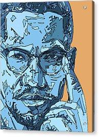 Malcolm X Blue And Orange Acrylic Print