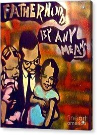 Malcolm X Fatherhood 2 Acrylic Print
