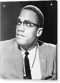 Malcolm X, Militant Black Muslim Civil Acrylic Print