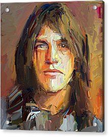 Malcolm Young Acdc Tribute Portrait Acrylic Print