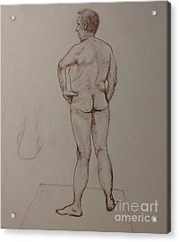 Male Life Drawing Acrylic Print
