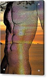 Male Nature Nude Acrylic Print