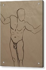 Male Nude Drawing 2 Acrylic Print
