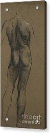 Male Nude Study Acrylic Print by Evelyn De Morgan