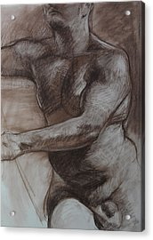 Male Torso Acrylic Print by Harry Robertson