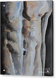 Male Torso Acrylic Print by Jindra Noewi