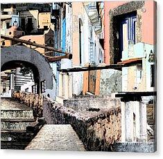 Malfa Elevations Acrylic Print by Ayesha DeLorenzo