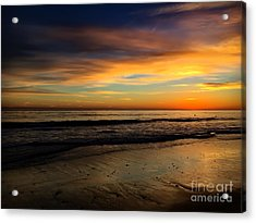 Malibu Beach Sunset Acrylic Print