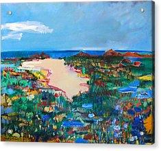 Malibu Marshes Acrylic Print by Zolita Sverdlove