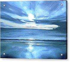 Malibu Sunset L Acrylic Print by Valentine Estabrook