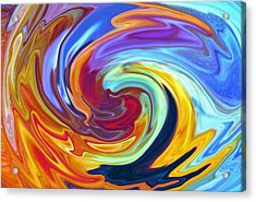 Acrylic Print featuring the painting Malibu Waves by Jennifer Godshalk