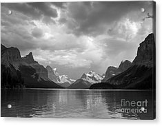 Maligne Lake Acrylic Print by Chris Scroggins