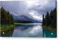 Maligne Lake Acrylic Print by Heather Vopni