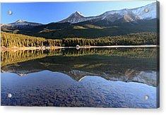 Maligne Lake Jasper National Park Alberta Canada Acrylic Print by Pierre Leclerc Photography