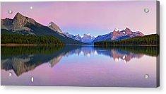 Maligne Lake Acrylic Print by Yan Zhang