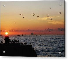 Mallory Square Sunset Acrylic Print by JAMART Photography