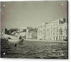 Acrylic Print featuring the photograph Maltese Boat by Charles McKelroy