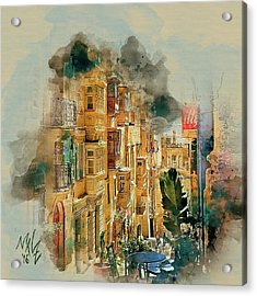 Maltese Street Acrylic Print