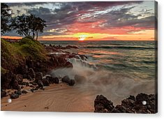 Maluaka Beach Sunset Acrylic Print