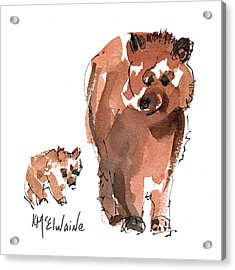 Mama And Baby Series Bear Acrylic Print
