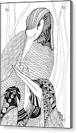 Mama Heron Acrylic Print