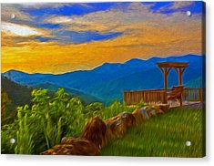 Blue Ridge Sunset From Mama Gertie's Hideaway Acrylic Print