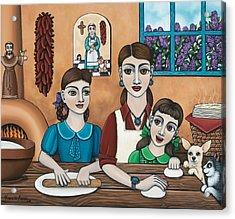 Mamacitas Tortillas Acrylic Print by Victoria De Almeida