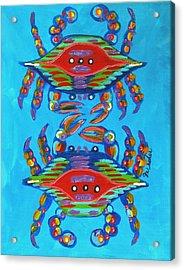 Mambo Crabs Acrylic Print by JoAnn Wheeler