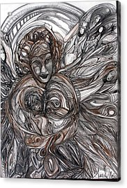 Mamie Acrylic Print by Anne-D Mejaki - Art About You productions