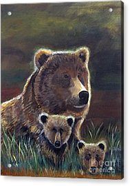 Acrylic Print featuring the painting Mammas Warmth by Leslie Allen