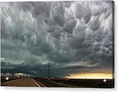 Mammatus Over Montata Acrylic Print by Ryan Crouse
