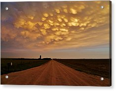 Acrylic Print featuring the photograph Mammatus Road by Ed Sweeney