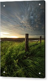 Acrylic Print featuring the photograph Mammatus Sunset by Aaron J Groen