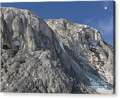 Acrylic Print featuring the photograph Mammoth Hot Springs by Robert Pearson