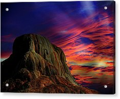 Mammoth Sunset Acrylic Print