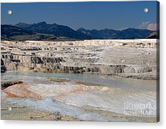 Acrylic Print featuring the photograph Mammoth Terrace Layers by Charles Kozierok