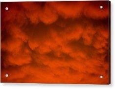 Mammutus Clouds Sunset Acrylic Print