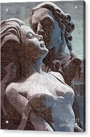Man And Woman In Love Acrylic Print by Deborah Selib-Haig DMacq