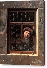 Man At A Window Acrylic Print by Samuel van Hoogstraten