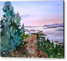 Man At Fraser Lake Bc Acrylic Print