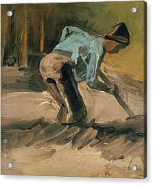 Man At Work Acrylic Print by Vincent Van Gogh