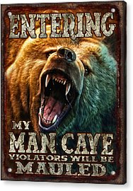 Man Cave Acrylic Print by JQ Licensing