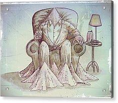 Man Deteriorating Acrylic Print by Paulo Zerbato