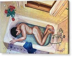 Man In Bathtub #3 Acrylic Print