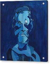 Man In Blue Acrylic Print