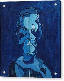 Man In Blue Acrylic Print by John Gibbs